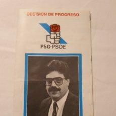 Collectionnisme: PROGRAMA ELECTORAL PSG-PSOE SADA CORUÑA. Lote 274935763