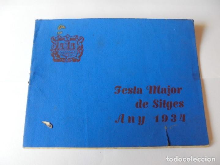 MAGNIFICO ANTIGUO PROGRAMA FIESTA MAYOR SITGES DEL 1934 (Coleccionismo - Laminas, Programas y Otros Documentos)