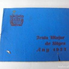 Coleccionismo: MAGNIFICO ANTIGUO PROGRAMA FIESTA MAYOR SITGES DEL 1934. Lote 275884508