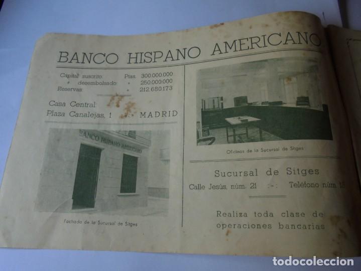 Coleccionismo: magnifico antiguo programa fiesta mayor sitges del 1947 - Foto 2 - 276732573