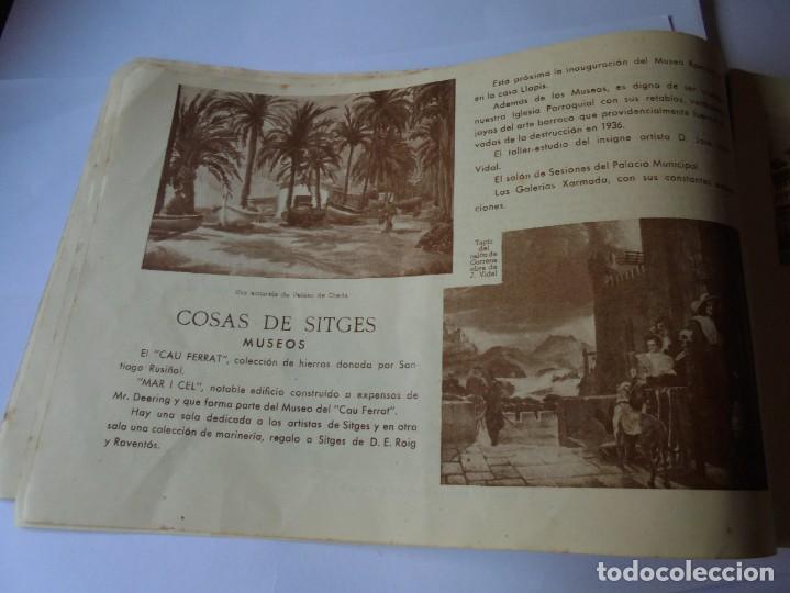 Coleccionismo: magnifico antiguo programa fiesta mayor sitges del 1947 - Foto 8 - 276732573