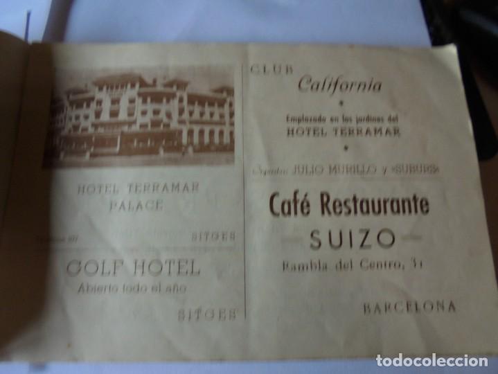 Coleccionismo: magnifico antiguo programa fiesta mayor sitges del 1947 - Foto 9 - 276732573
