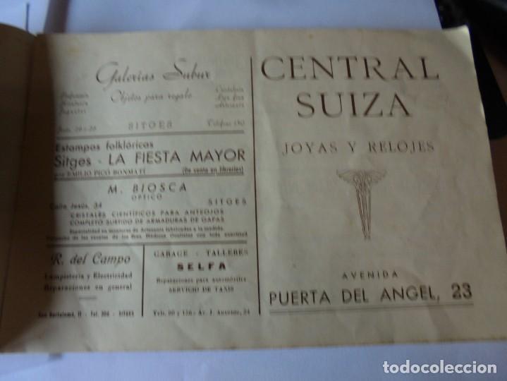 Coleccionismo: magnifico antiguo programa fiesta mayor sitges del 1947 - Foto 11 - 276732573