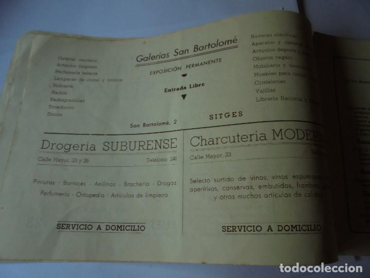 Coleccionismo: magnifico antiguo programa fiesta mayor sitges del 1947 - Foto 12 - 276732573