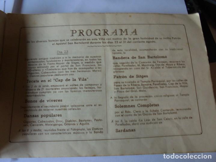 Coleccionismo: magnifico antiguo programa fiesta mayor sitges del 1947 - Foto 13 - 276732573