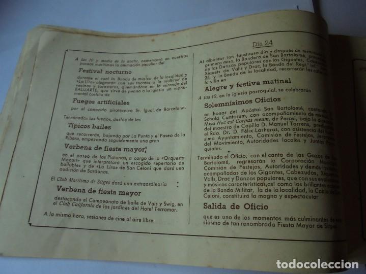 Coleccionismo: magnifico antiguo programa fiesta mayor sitges del 1947 - Foto 14 - 276732573