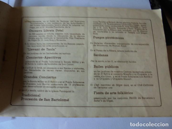 Coleccionismo: magnifico antiguo programa fiesta mayor sitges del 1947 - Foto 15 - 276732573