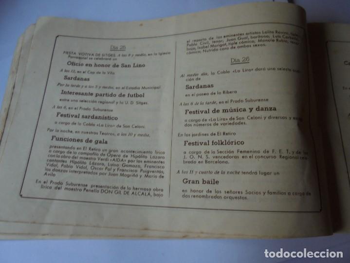 Coleccionismo: magnifico antiguo programa fiesta mayor sitges del 1947 - Foto 16 - 276732573