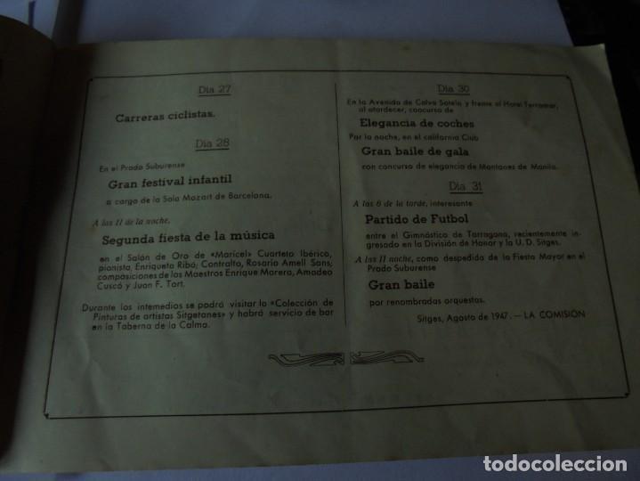 Coleccionismo: magnifico antiguo programa fiesta mayor sitges del 1947 - Foto 17 - 276732573