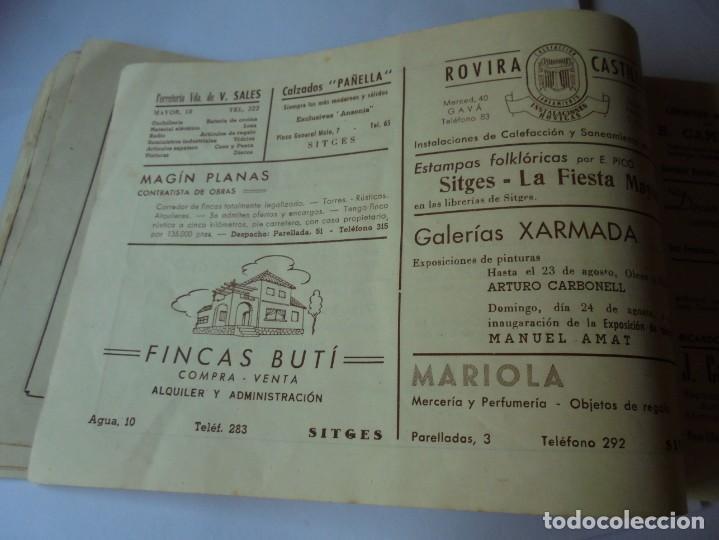 Coleccionismo: magnifico antiguo programa fiesta mayor sitges del 1947 - Foto 18 - 276732573
