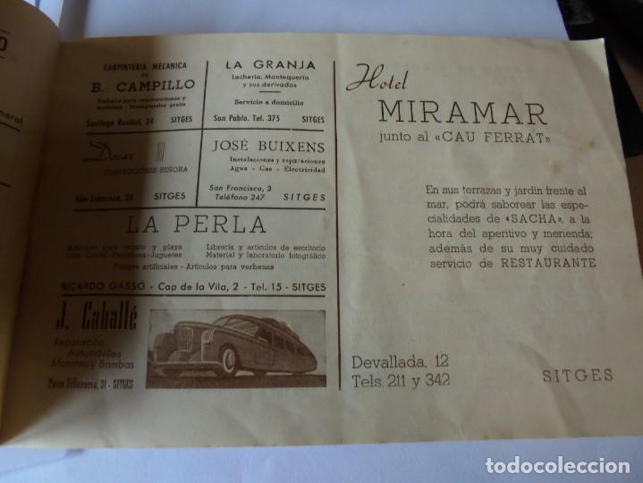 Coleccionismo: magnifico antiguo programa fiesta mayor sitges del 1947 - Foto 19 - 276732573