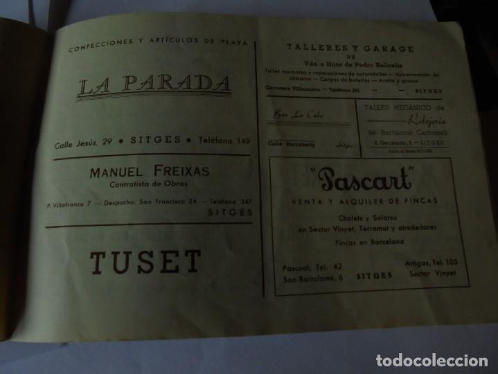 Coleccionismo: magnifico antiguo programa fiesta mayor sitges del 1947 - Foto 23 - 276732573