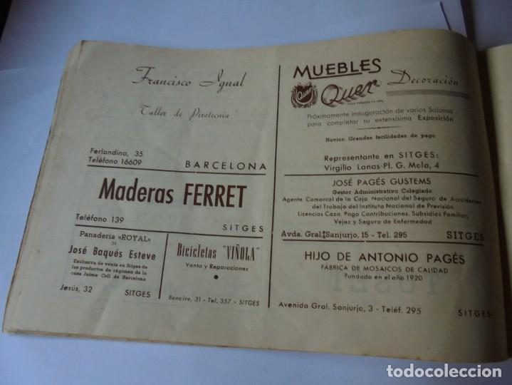 Coleccionismo: magnifico antiguo programa fiesta mayor sitges del 1947 - Foto 24 - 276732573