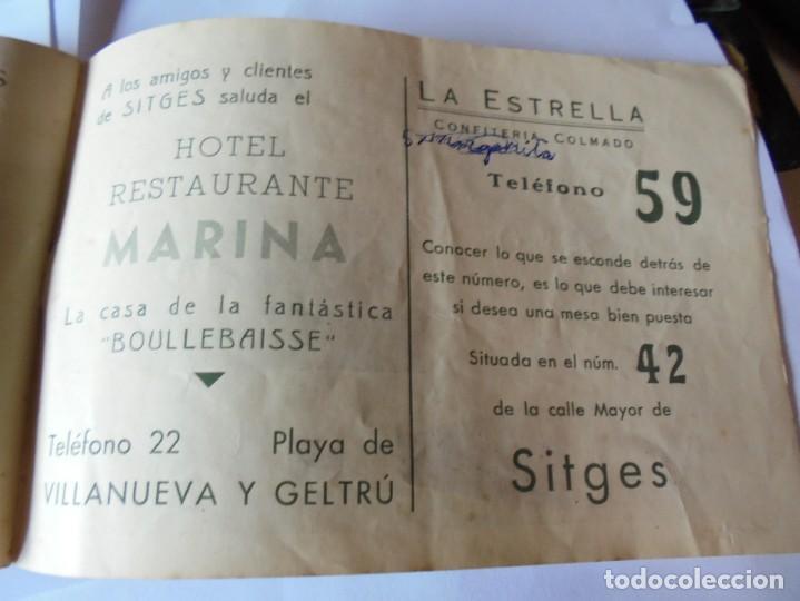 Coleccionismo: magnifico antiguo programa fiesta mayor sitges del 1947 - Foto 27 - 276732573