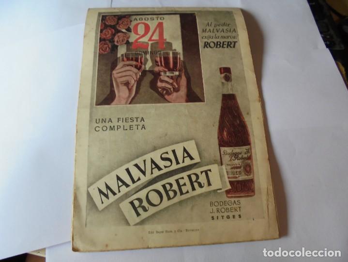 Coleccionismo: magnifico antiguo programa fiesta mayor sitges del 1947 - Foto 28 - 276732573