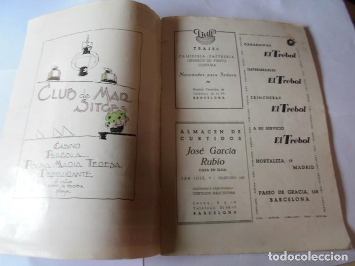 Coleccionismo: magnifico antiguo programa fiesta mayor sitges del 1952 - Foto 2 - 276732923