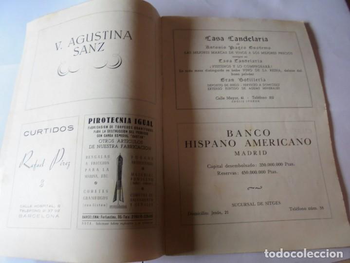 Coleccionismo: magnifico antiguo programa fiesta mayor sitges del 1952 - Foto 3 - 276732923