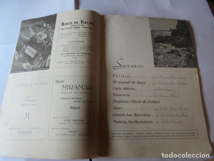 Coleccionismo: magnifico antiguo programa fiesta mayor sitges del 1952 - Foto 4 - 276732923
