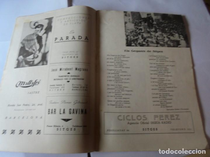 Coleccionismo: magnifico antiguo programa fiesta mayor sitges del 1952 - Foto 6 - 276732923