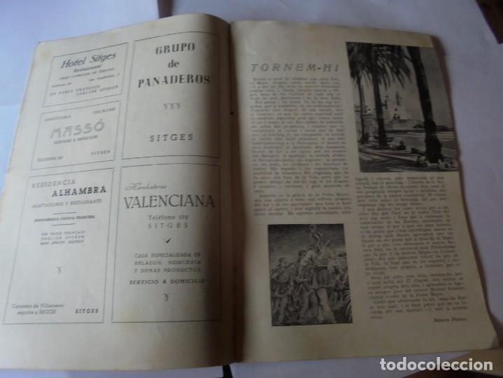 Coleccionismo: magnifico antiguo programa fiesta mayor sitges del 1952 - Foto 8 - 276732923