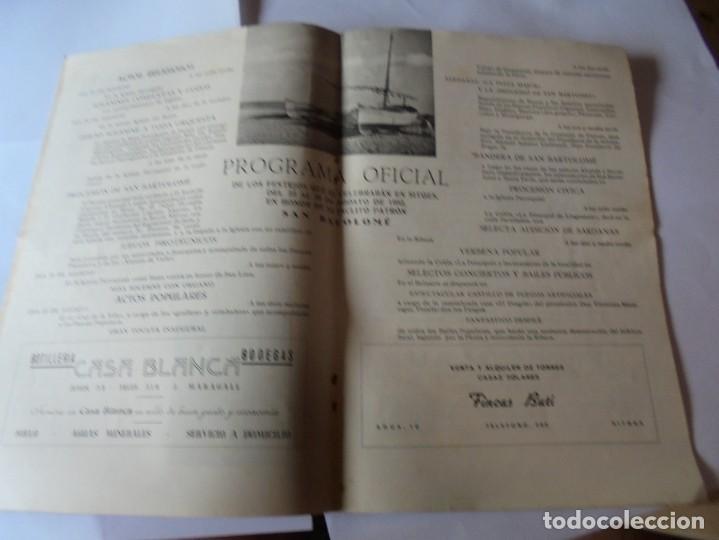 Coleccionismo: magnifico antiguo programa fiesta mayor sitges del 1952 - Foto 9 - 276732923
