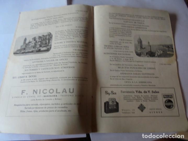 Coleccionismo: magnifico antiguo programa fiesta mayor sitges del 1952 - Foto 10 - 276732923