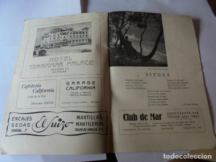 Coleccionismo: magnifico antiguo programa fiesta mayor sitges del 1952 - Foto 12 - 276732923