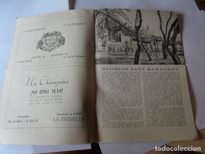 Coleccionismo: magnifico antiguo programa fiesta mayor sitges del 1952 - Foto 13 - 276732923