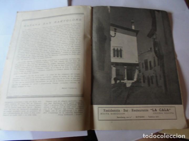 Coleccionismo: magnifico antiguo programa fiesta mayor sitges del 1952 - Foto 14 - 276732923