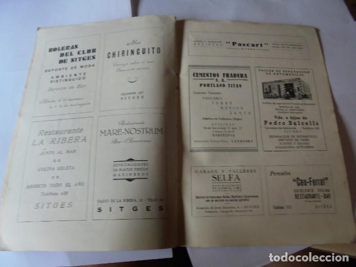Coleccionismo: magnifico antiguo programa fiesta mayor sitges del 1952 - Foto 15 - 276732923