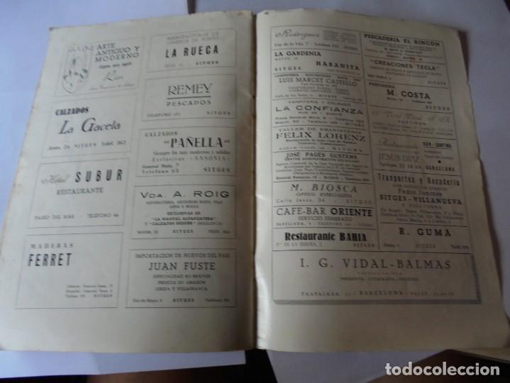 Coleccionismo: magnifico antiguo programa fiesta mayor sitges del 1952 - Foto 16 - 276732923