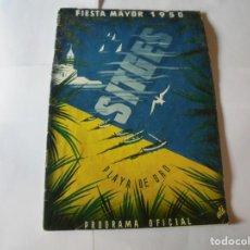 Coleccionismo: MAGNIFICO ANTIGUO PROGRAMA FIESTA MAYOR SITGES DEL 1950. Lote 276733133