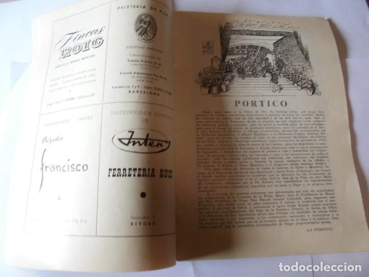 Coleccionismo: magnifico antiguo programa fiesta mayor sitges del 1957 - Foto 3 - 276733248
