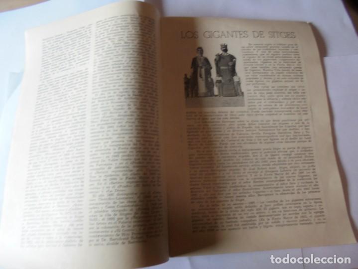 Coleccionismo: magnifico antiguo programa fiesta mayor sitges del 1957 - Foto 6 - 276733248