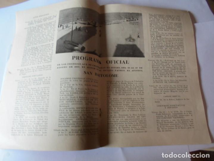 Coleccionismo: magnifico antiguo programa fiesta mayor sitges del 1957 - Foto 10 - 276733248