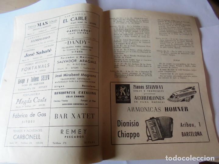 Coleccionismo: magnifico antiguo programa fiesta mayor sitges del 1957 - Foto 11 - 276733248