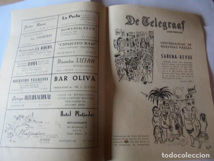 Coleccionismo: magnifico antiguo programa fiesta mayor sitges del 1957 - Foto 13 - 276733248