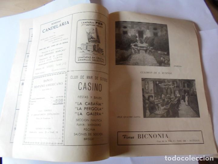 Coleccionismo: magnifico antiguo programa fiesta mayor sitges del 1957 - Foto 14 - 276733248