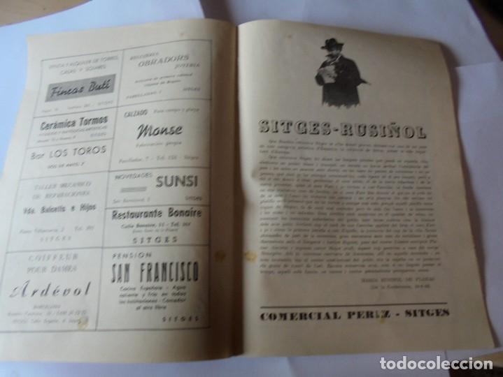 Coleccionismo: magnifico antiguo programa fiesta mayor sitges del 1957 - Foto 15 - 276733248