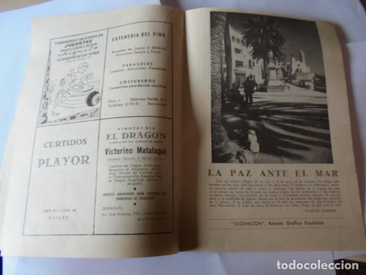 Coleccionismo: magnifico antiguo programa fiesta mayor sitges del 1957 - Foto 16 - 276733248