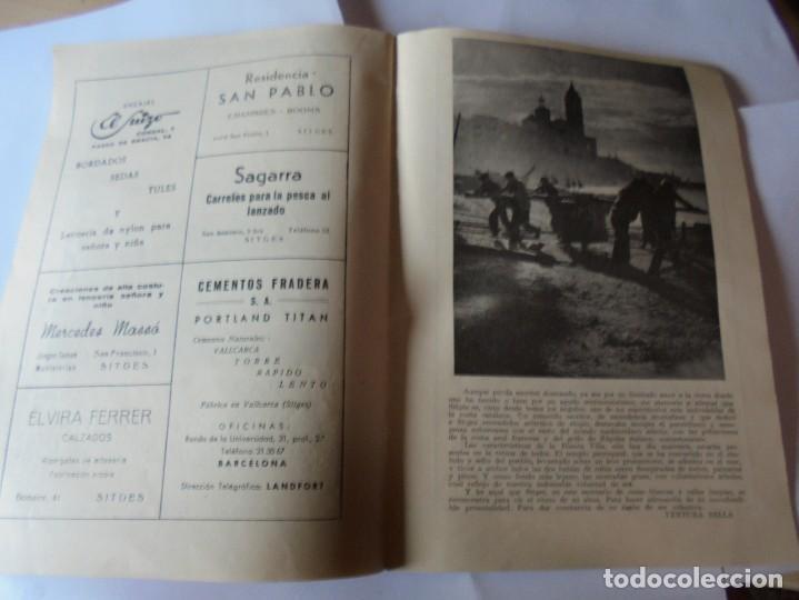 Coleccionismo: magnifico antiguo programa fiesta mayor sitges del 1957 - Foto 17 - 276733248