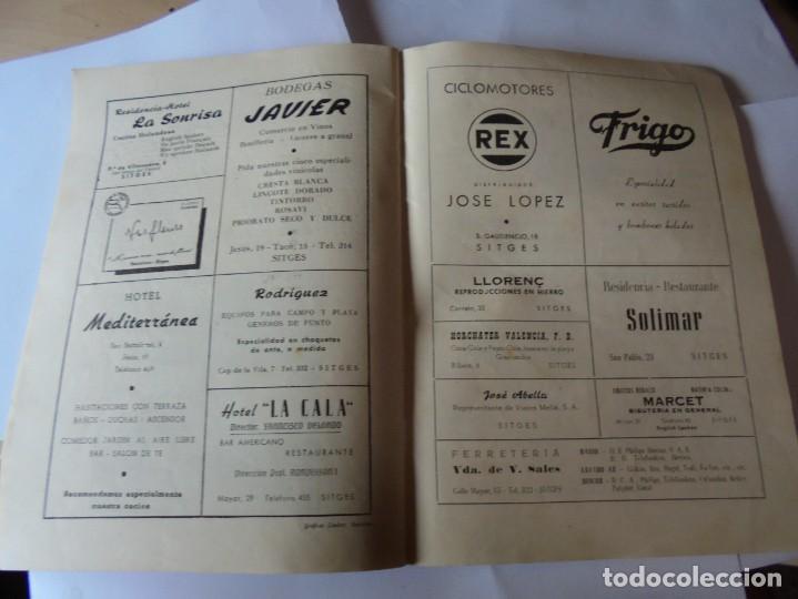 Coleccionismo: magnifico antiguo programa fiesta mayor sitges del 1957 - Foto 19 - 276733248