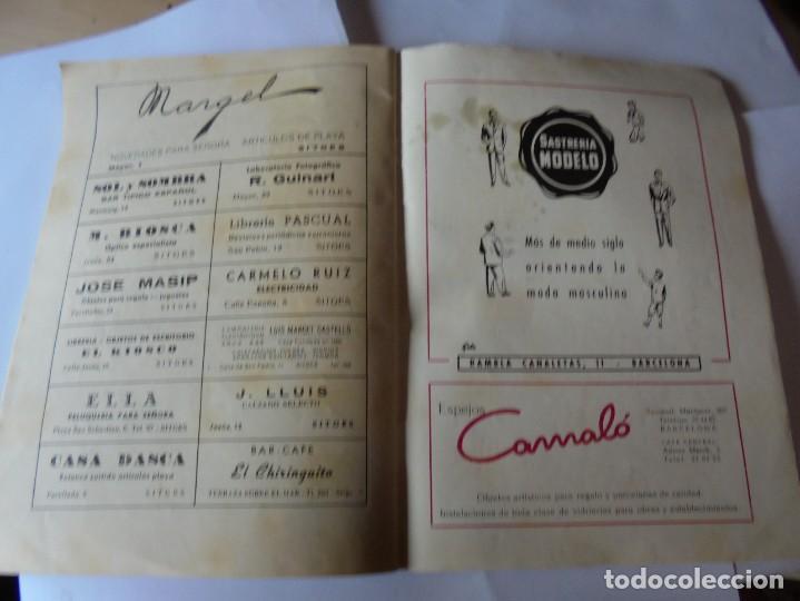Coleccionismo: magnifico antiguo programa fiesta mayor sitges del 1957 - Foto 20 - 276733248