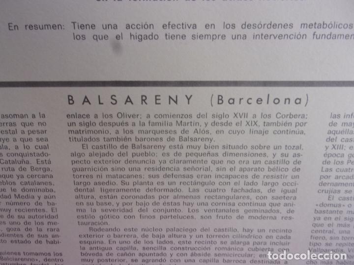 Coleccionismo: laminas publicidad medica casen con castillo este Balsareny (Barcelona) mide 35x26 cm - Foto 3 - 276957233