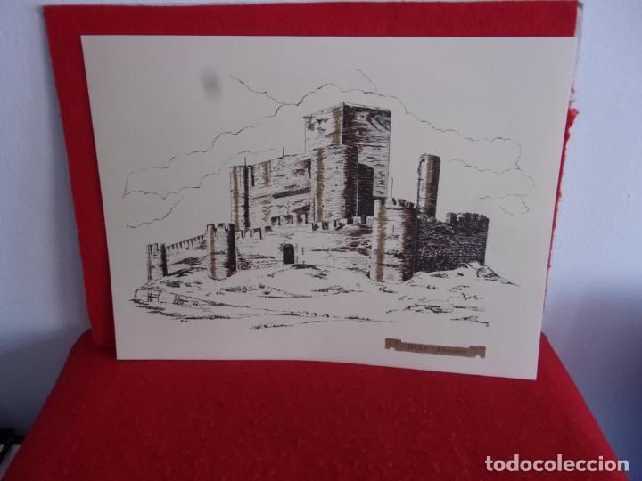 Coleccionismo: lamina castillo de Biar Alicante,detras publicidad casen y la historia castillo - Foto 5 - 276957448