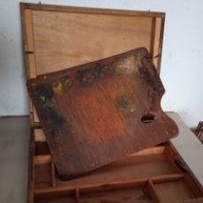 Coleccionismo: MALETÍN DE PINTOR, 37 X 46 CMS. Lote 277001288