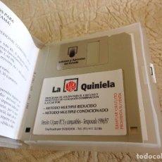 Coleccionismo: ANTIGUO DISQUETE A: LA QUINIELA VERSION 1.0 TEMPORADA 1996 1997. Lote 277194968