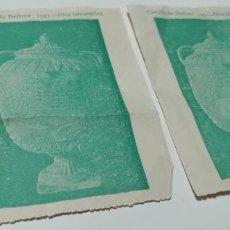 Collectionnisme: 2 ENTRADAS PARA EL CASTILLO DE BELLVER,PALMA DE MALLORCA AÑO 1951. Lote 277497343