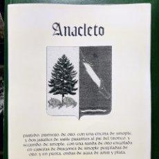 Coleccionismo: REPRODUCCION ESCUDO ANACLETO (POR GENTILEZA DE LOS ARCOS Y PRYCA) - LAMINAVARIOS-0032. Lote 277582208