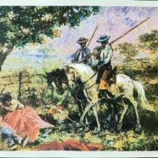 Coleccionismo: REPRODUCCION CUADRO AL OLEO TEMATICA TAURINA - LAMINAVARIOS-0038. Lote 277587553